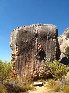 escalade en Afrique du Sud avec le guide d'esprit d'aventure